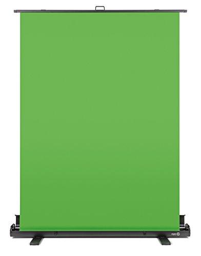 Elgato Green Screen Ausfahrbares Chroma-Key-Panel (zur Hintergrundentfernung mit automatisch arretierendem Rahmen, knitterfreies Chroma-Green-Material in Aluminium-Koffer)