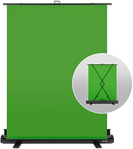 Elgato Green Screen Chroma-Key-Panel (zur Hintergrundentfernung mit automatisch arretierendem Rahmen, knitterfreies Chroma-Green-Material in Aluminium-Koffer), (148x180 cm)