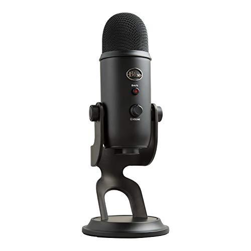 Blue Microphones Yeti Professionelles USB-Mikrofon für Aufnahmen, Streaming, Podcasting, Broadcasting, Gaming, Voiceover und mehr, Plug 'n Play auf PC und Mac - Schwarz