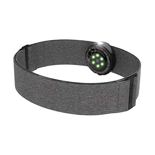 Polar OH1+ Optischer Pulssensor, Wasserdicht, Befestigungsklammer für Schwimmbrille, Bluetooth und ANT+, Textilarmband, Grau, One Size